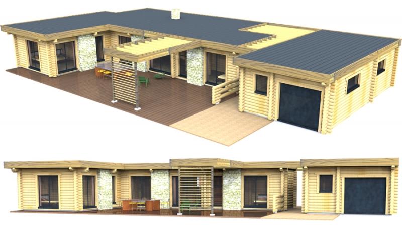 maison en bois 15m2